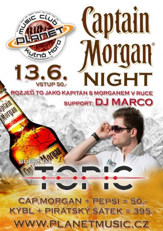 CAPTAIN MORGAN NIGHT | TOPIC | MARCO | disco dance, rnb, house, CZ/SK