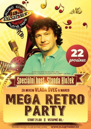 Mega retro party & Standa Hložek
